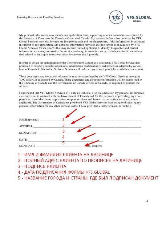 KurjerExpress  Как заполнить доверенность для визового центра Канады в Варшаве?