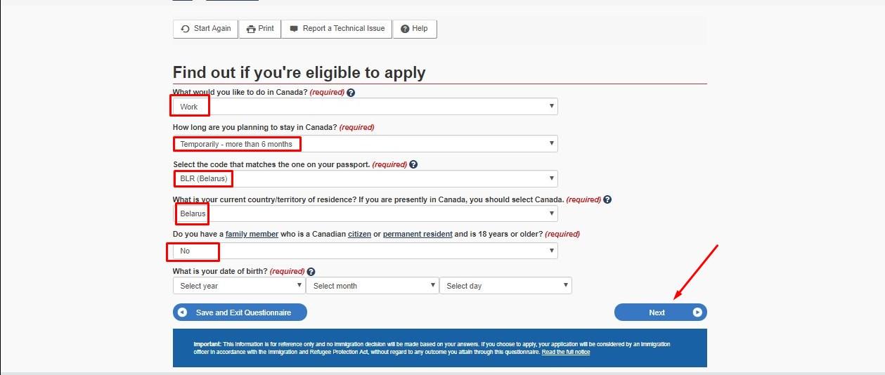 Виза в Канаду для белорусов 2019