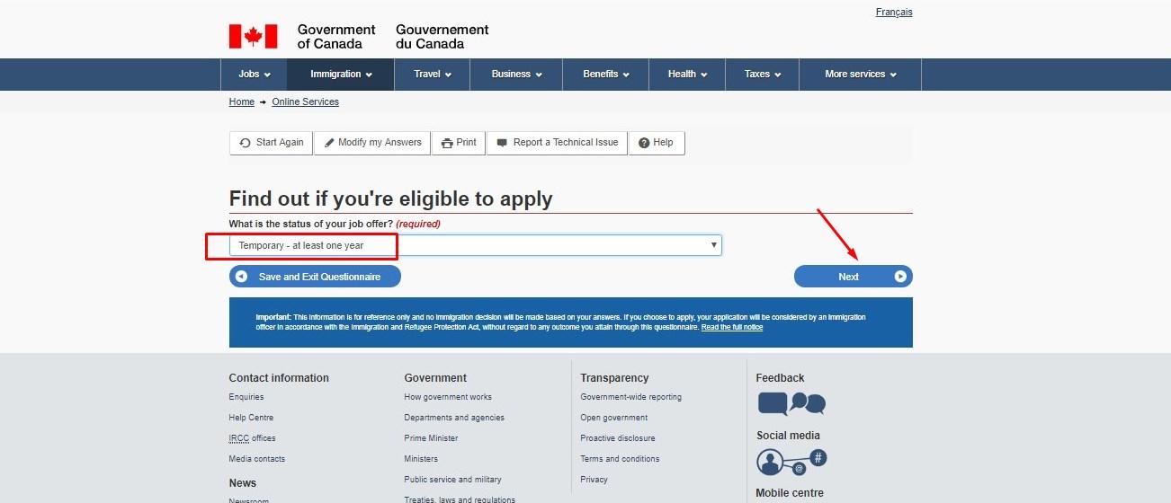 Процесс подачи документов на канадскую визу онлайн
