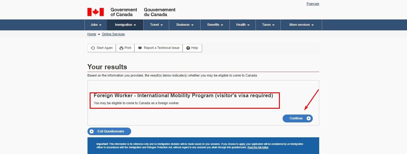 Подать документы на канадскую визу онлайн